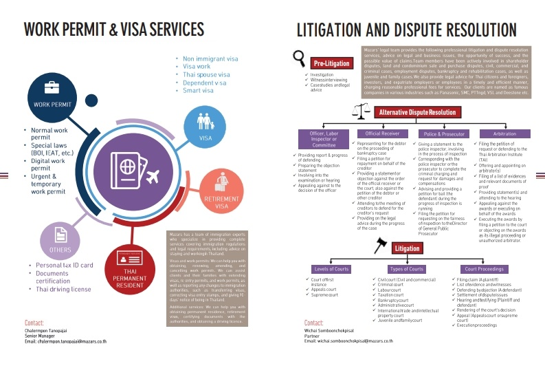 Legal Services Brochure - Mazars - Thailand
